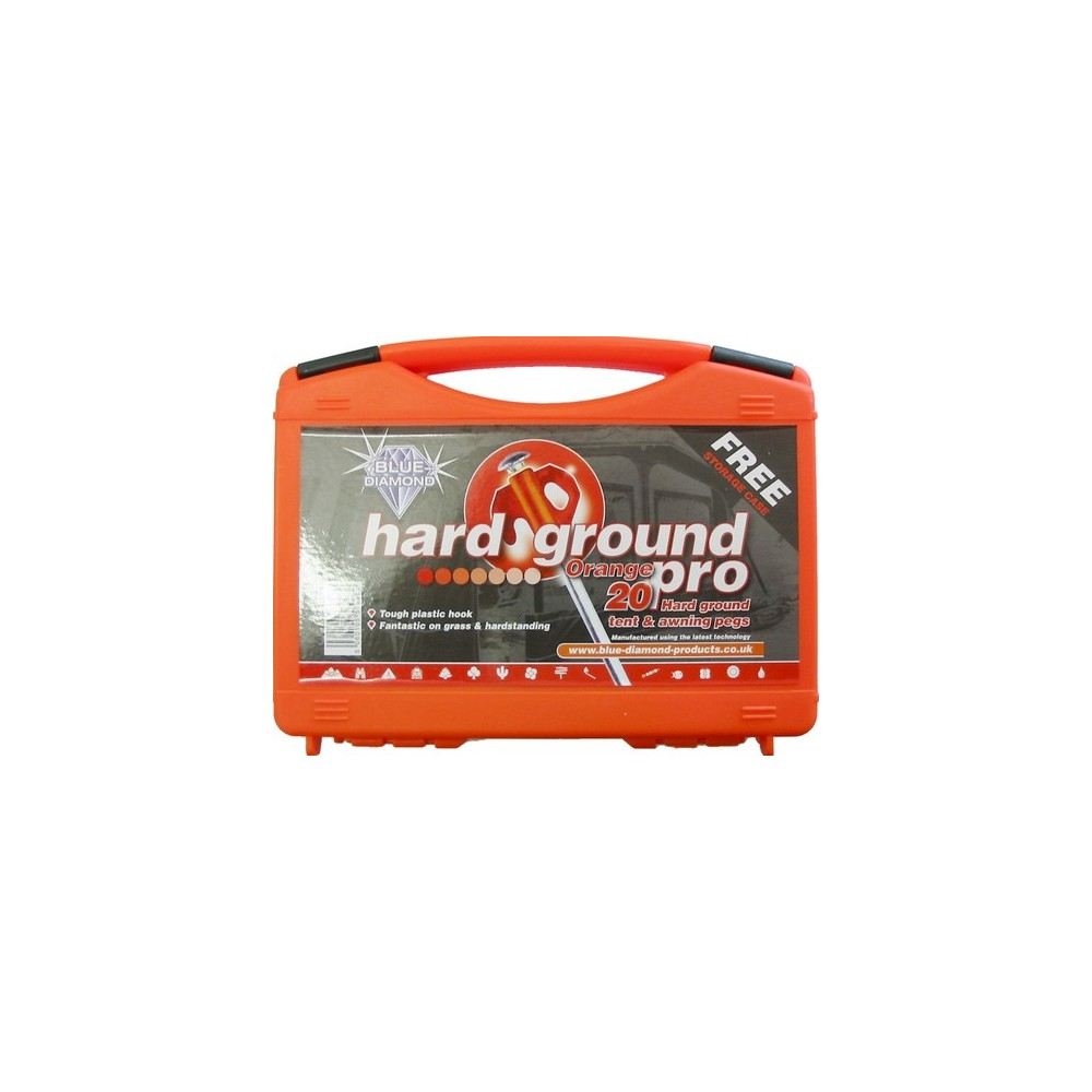 Blue Diamond Hard Ground Pro Pegs 20s With Free Case by Blue Diamond