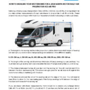 Motorhome Fitting Guide