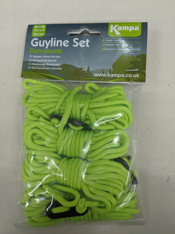 Fluorescent Green Replacement Guy Line Camping Tents /& Awnings By The Metre